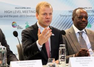 Heikki Holmås, Minister of International Development, Norway ©IISD Reporting Services